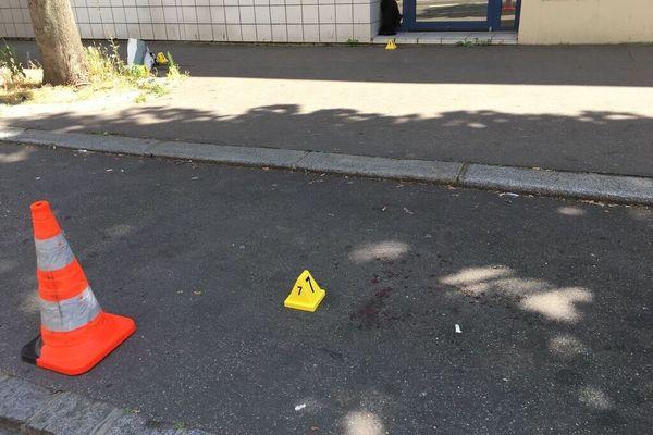 plot jaune  indice au sol après rixe Rouen
