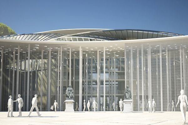 Montpellier - esquisse de la future faculté de médecine prévue pour septembre 2015