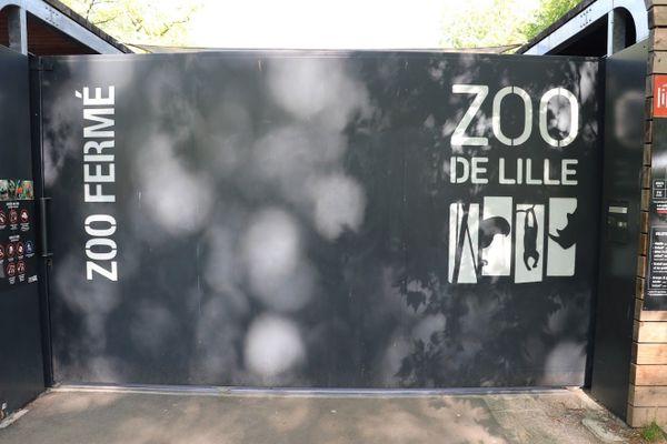 """Le parc zoologique de Lille fermé comme l'ensemble des parc et jardins de la ville ainsi que la ferme pédagogique suite à la vigilance jaune """"Orages"""" ce jeudi 17 juin 2021."""