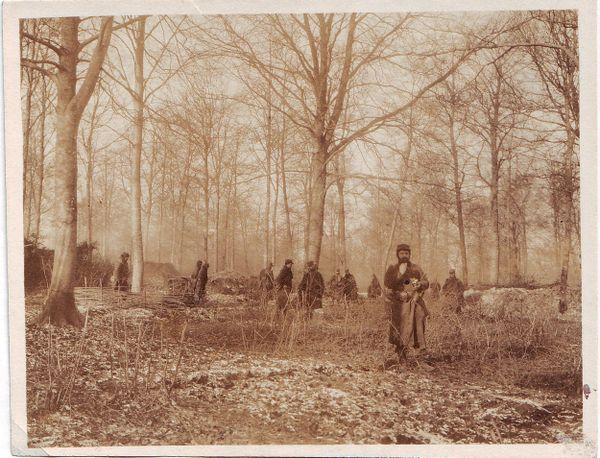 Soldats du 106e régiment d'infanterie près de la Tranchée de Calonne.