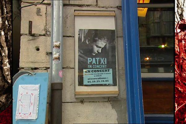 Un des premiers concerts de Patxi à Bayonne Baionan eman lehenengo kontzertuetarik bat