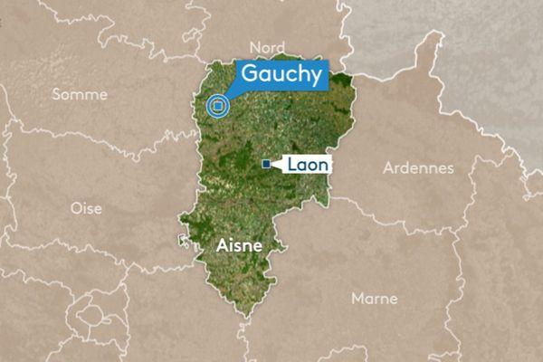 L'accident s'est produit rue Auguste Delaune, à Gauchy dans l'Aisne.