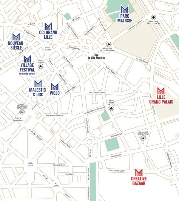 Varios lugares del festival.