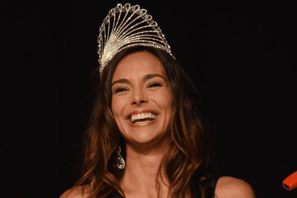 Marine Lorphelin lors de l'élection de Miss Bourgogne 2016