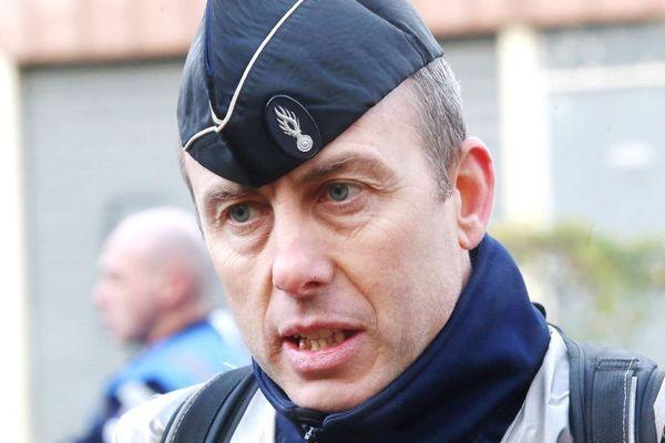 Le lieutenant-colonel Arnaud Beltrame, le gendarme décédé suite à l'attaque terroriste de Trèbes dans l'Aude, le 23/03/2018