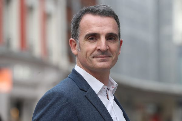 Éric Piolle, maire de Grenoble, à Mulhouse pour participer à une conférence de presse d'EELV Alsace le 20 octobre 2020.