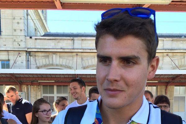 Le retour de Pierre Houin champion olympique d'aviron à Toul le 24 août 2016