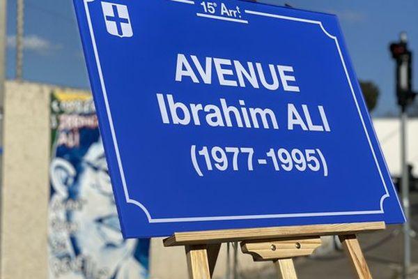 L'avene des Aygalades porte désormais le nom d'Ibrahim A, 26 ans après son meurtre.