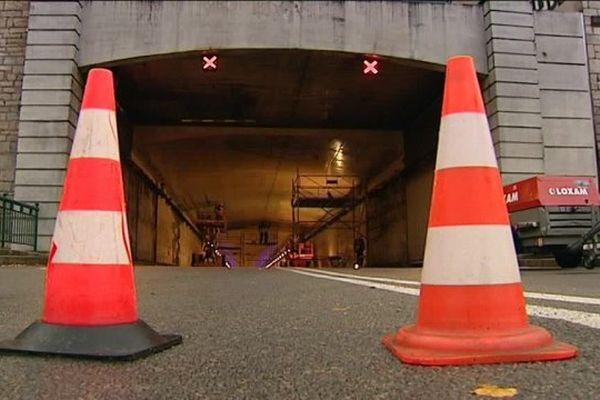 Tunnel sous la citadelle à Besançon en travaux