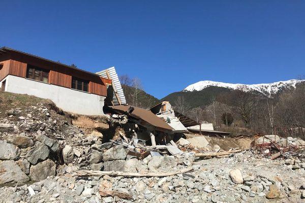Le 17 février 2021 - maison détruite dans le lit de la Vésubie.