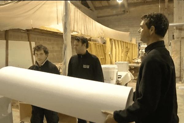 A Lorient, la construction d'un voilier expérimental pour traverser l'Arctique.