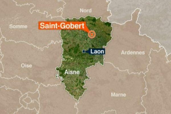 Carte Saint-Gobert