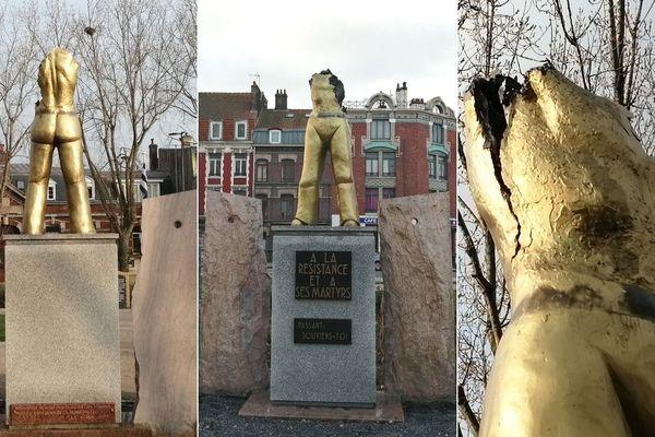 La statue des martyrs de la résistance de Dunkerque a été vandalisée dans la nuit du 21 au 22 janvier.