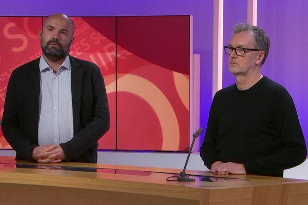 Fabrice Main, réalisateur et David Hurst, producteur