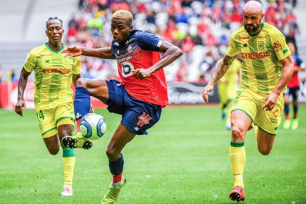 L'attaquant Lillois, Victor Osimhen, auteur de deux buts contre le FC Nantes, le 10 août 2019