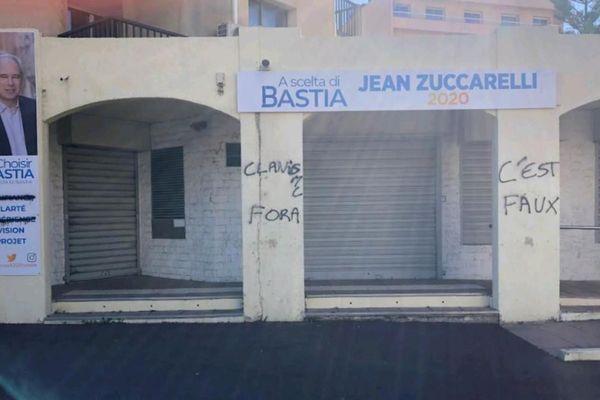 Les permanences du candidat aux municipales de Bastia ont été taguées dans la nuit du jeudi au vendredi.