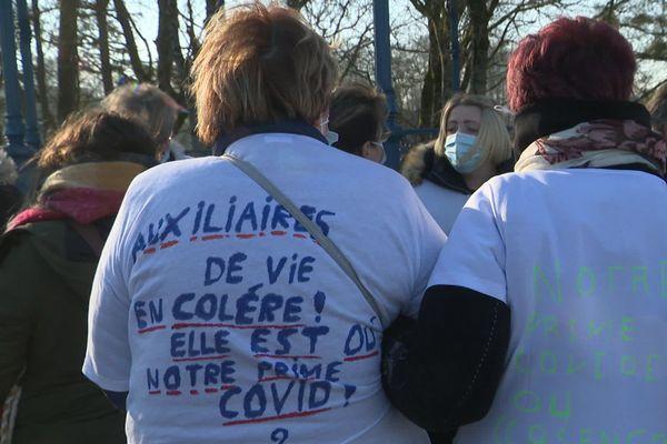 Une soixantaine d'auxiliaires de vie sociale ont manifesté ce samedi 9 janvier à Vire