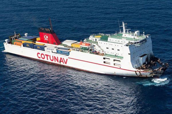 15/10/2018 - Le navire tunisien Ulysse a quitté la zone de la collision jeudi et se trouve au large du port tunisien de Bizerte.