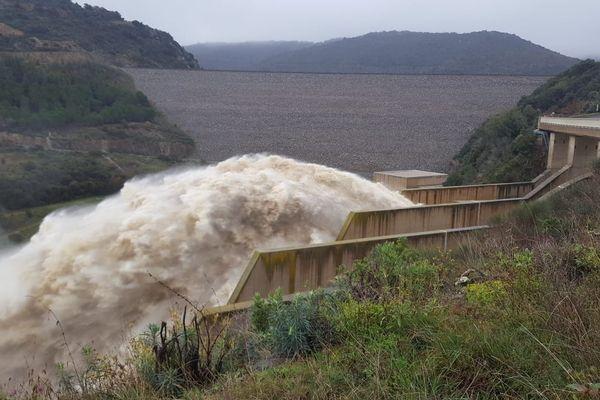 Cassagnes (Pyrénées-Orientales) - des délestages au barrage de Caramany - 23 janvier 2020.