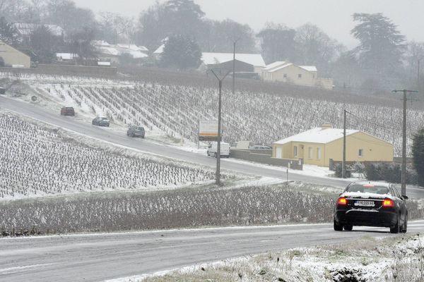 Dans le vignoble nantais, vendredi 18 janvier