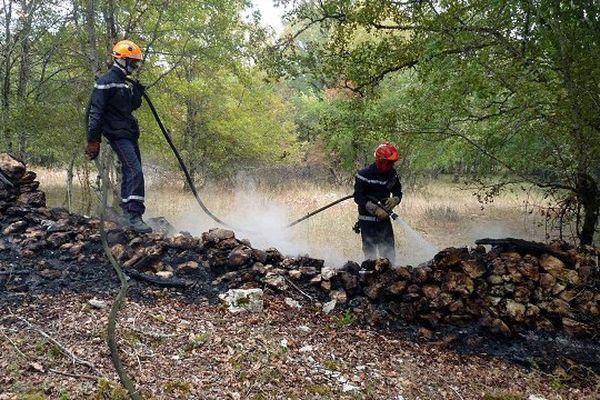 Les pompiers du Lot en intervention ce dimanche matin à Caniac-du-Causse