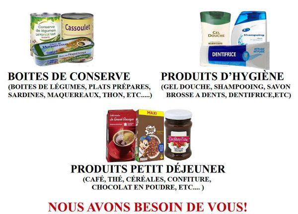 Conserves, produits d'hygiène, plats préparés, les besoins sont importants.