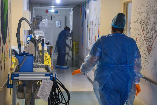 Illustration. Le service Covid-19 de l'hôpital de Bastia.