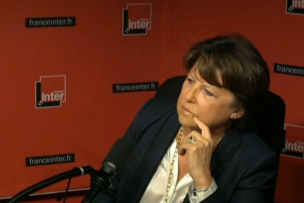 Martine Aubry, sur France Inter.