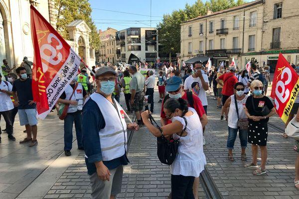 Un cortège assez modeste, à Montpellier pour cette journée d'action interprofessionnelle à l'appel des syndicats CGT, FSU et Solidaires.