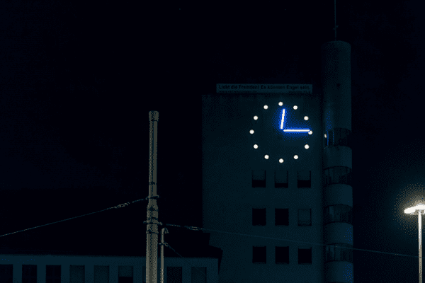 L'horloge de Rosengartenstrasse à Zurich
