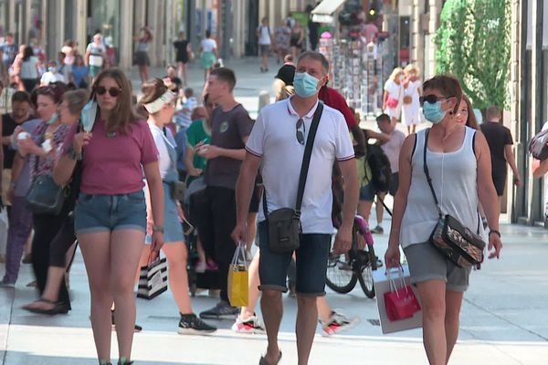 Dijon, rue de la Liberté le 10 août 2020.