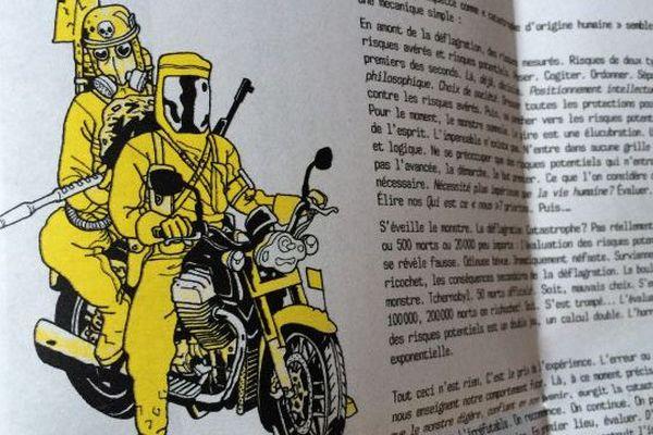 30 ans après Tchernobyl : des liquidateurs dans une vision post-apocalyptique du dessinateur Iwan Lépingle. Cacograph #06 - Orléans (Loiret) - 2016