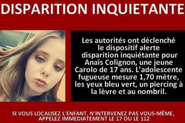 Anaïs Colignon, une jeune ardennaise de 17 ans, a fugué le 15 avril dernier d'un foyer pour mineur à Charleville-Mézières.