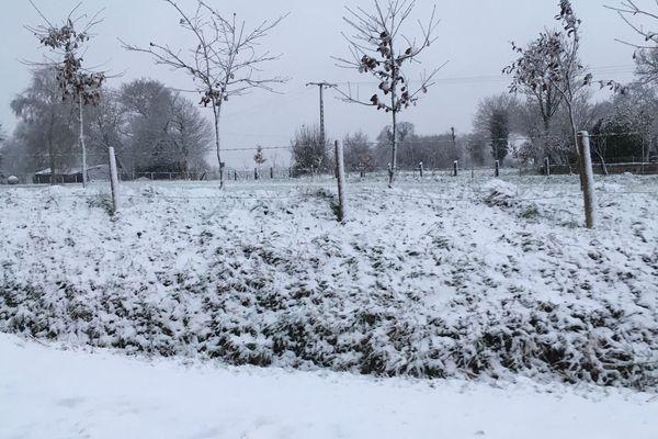 Au sud de Dinan, beau tapis de neige