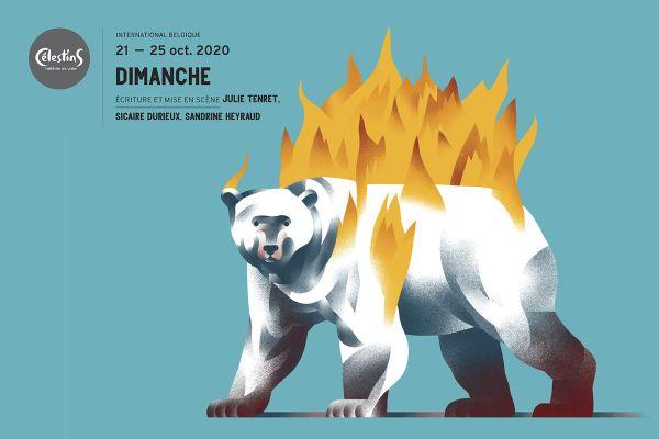 Affiche de la pièce Dimanche jouée en octobre au théâtre des Celestins