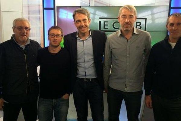 De gauche à droite, Gérald Martinez, Julien Teiller, Jean-Luc Roussilhe, Christophe Buron et Eric Nicol.