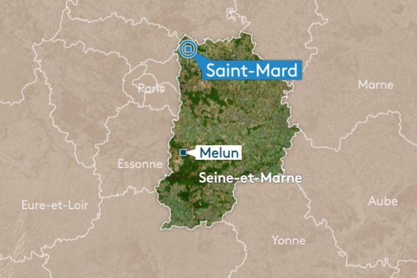 La bagarre a éclaté aux abords de la gare routière de Saint-Mard (77), le vendredi 19 octobre 2018