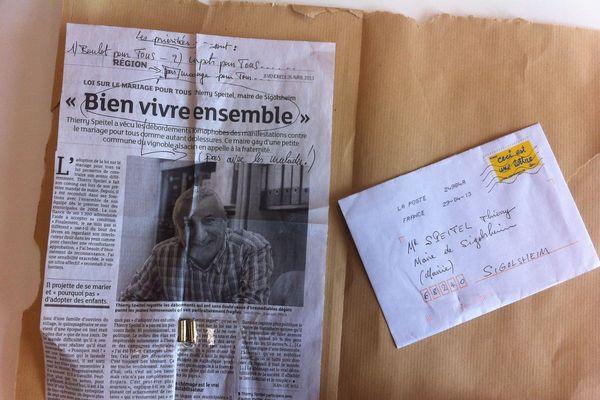 Le courrier reçu ce matin à la mairie de Sigolsheim