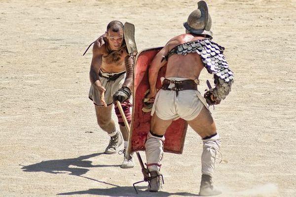 Reconstitution de combats de gladiateurs