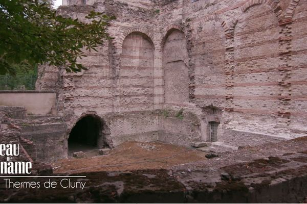 Thermes gallo-romains de Cluny : salle de la palestre dédié à la lutte et aux exercices physiques