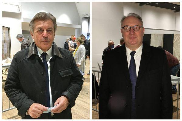 Alain Joyandet et Olivier Rietmann le 27 septembre 2020 à Vesoul