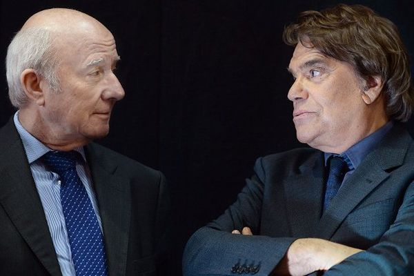 Olivier Mazerolle et Bernard Tapie, le 15 novembre 2013
