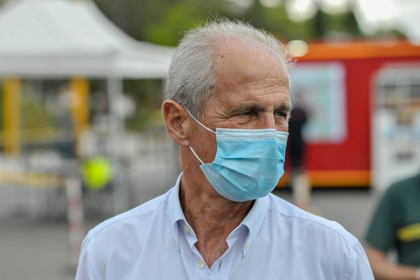 Hubert Falco, maire de Toulon, le 16 août 2021.