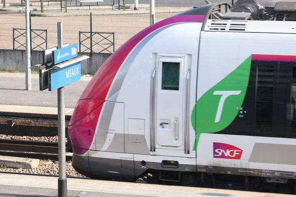 Un Transilien sur la ligne P en gare de Meaux. (Photo d'illustration)