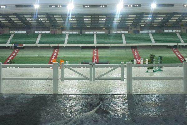 Orages sur le stade d'Ornano, 26 juin 2014, épreuves test des Jeux équestres mondiaux