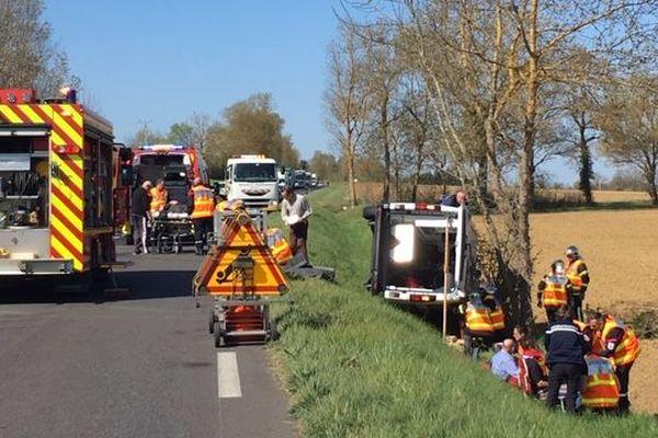 Un accident sur une route gersoise, en mars 2019.