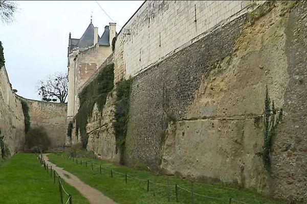 La partie basse du château de Brézé, dans le Miane-et-Loire