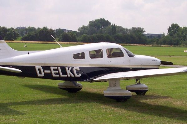 Photo d'illustration d'un Piper PA-28, le modèle en question.
