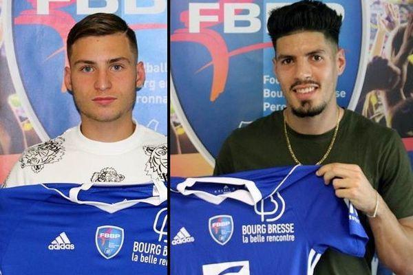 Thomas Da Costa et Adel Belaroussi, les nouvelles recrues du FBBP01