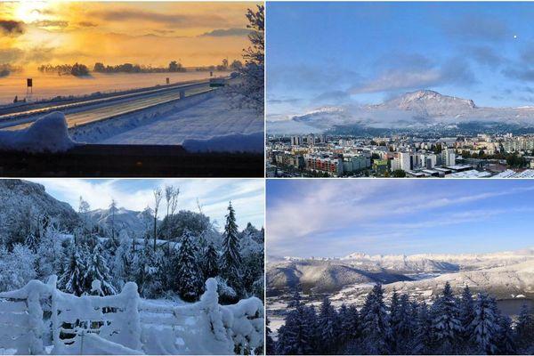 La neige a transformé les paysage, l'occasion de capturer de magnifiques images de la région